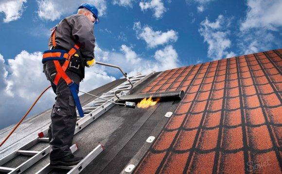 монтаж на скатных крышах